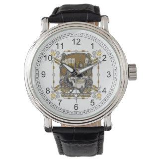 Steampunk mechanischer Schädel Armbanduhr