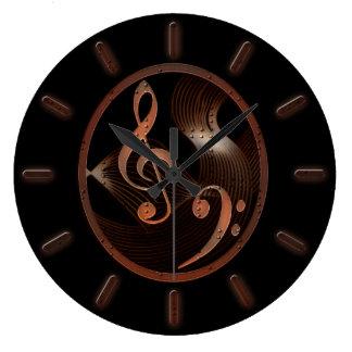 Steampunk Musik-Entwurfs-Wanduhr Wanduhr