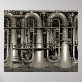 Steampunk Musik-Fabrik Poster