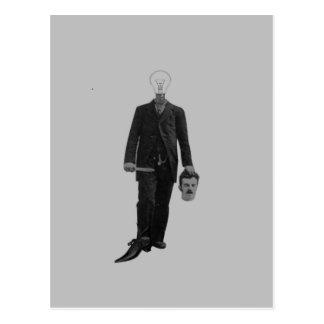 Steampunk Science Fiction-Robotercyborg-Mord Postkarte