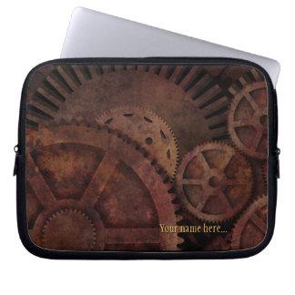Steampunk übersetzt Industriemaschinen Laptopschutzhülle