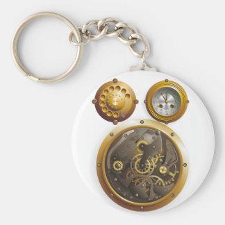 Steampunk Uhr Schlüsselanhänger