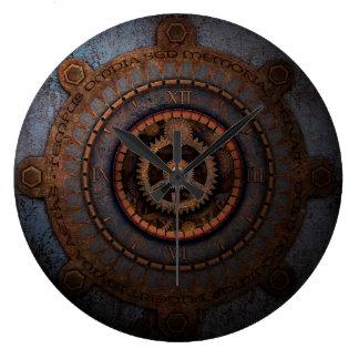 Steampunk Uhr-Zeit-Metallgänge Wanduhren