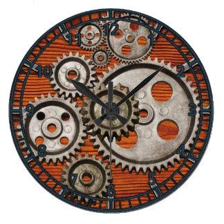 steampunk Uhrgang-Motorzahn-Uhrquadrat Wanduhr