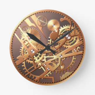steampunk Uhrgänge Wanduhr