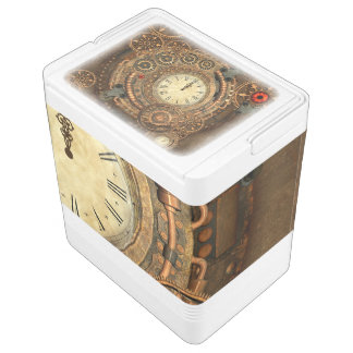 Steampunk, wunderbares Uhrwerk Igloo Kühlbox