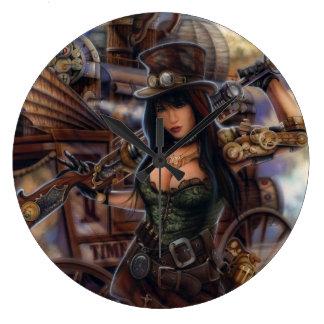 Steampunk Zeit-Reisend-Uhr! Wanduhren
