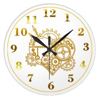 Steampunked Herz-Uhr Uhren