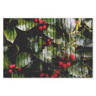 Stechpalmen-Beeren-horizontales Seidenpapier