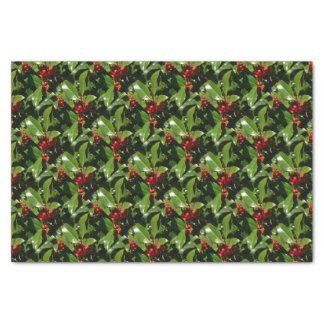 Stechpalmen-Beeren-WeihnachtsPackpapier Seidenpapier