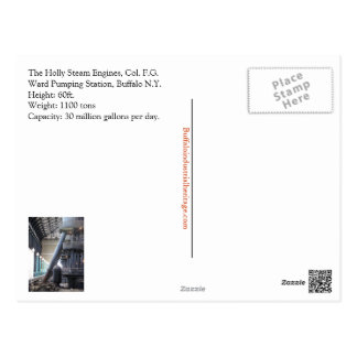 Stechpalmen-Dampf-Motor-Postkarte Postkarte