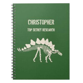 Stegosaurus-Knochen-Dinosaurier-Grabung Notizbücher