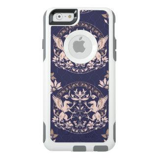 Stehender schwarzer Greif mit Blumenrüttler OtterBox iPhone 6/6s Hülle