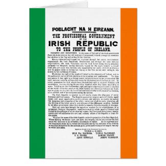 Steigende Proklamation Ostern der Republik Irland Grußkarte