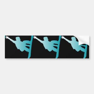 Steigungsblau-Snowboarder Autoaufkleber