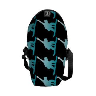 Steigungsblau-Snowboarder Kurier Taschen