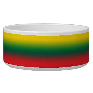 Steigungsflagge von Litauen-Farben Napf