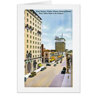 Steinallee, Retro Autoreise Tucsons, Arizona Karte
