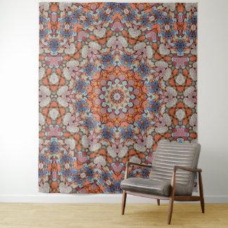 Steinige Weg-Vintage Kaleidoskop-Wand-Tapisserie Wandteppich