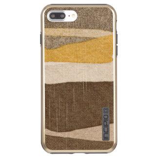 Steinkunst-neutraler grauer Senf-beige Kitz-Farbe Incipio DualPro Shine iPhone 8 Plus/7 Plus Hülle