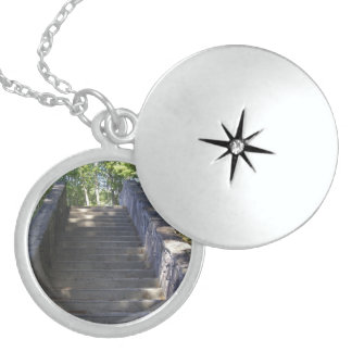 Steintreppe Sterling Silberkette