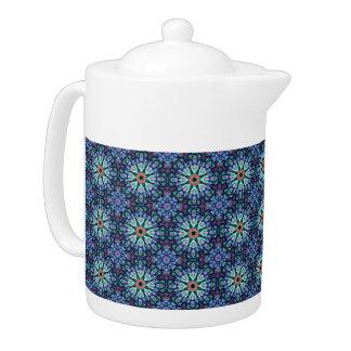Steinwunder-Kaleidoskop-    Muster-Teekannen