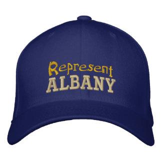 Stellen Sie Albanien-Kappe dar Bestickte Kappe