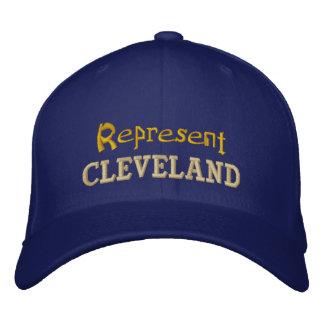 Stellen Sie Cleveland-Kappe dar Bestickte Baseballkappe