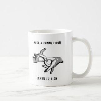 Stellen Sie eine Beziehung her zu lernen, Tasse zu