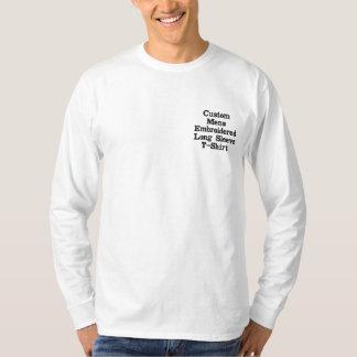 Stellen Sie gestickten langen die Hülsen-T - Shirt