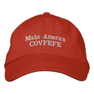 Stellen Sie Hut Amerikas COVFEFE her Bestickte Kappe