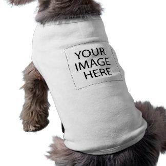 Stellen Sie Ihr eigenes Haustier-Shirt her Ärmelfreies Hunde-Shirt