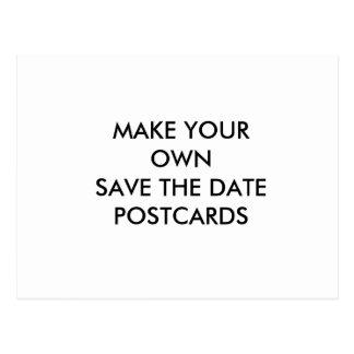 Stellen Sie Ihre eigene Gewohnheits-Save the Date Postkarte