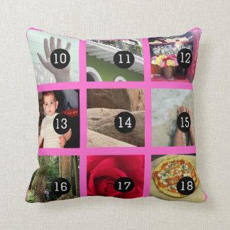 Stellen Sie Ihren eigenen Fotodekor mit 18 Bildern Kissen