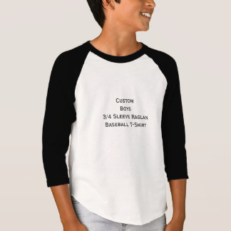 Stellen Sie kundenspezifische Jungen 3/4 T-Shirt