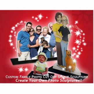 Stellen Sie kundenspezifisches Freistehende Fotoskulptur