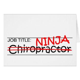 Stellenbezeichnung Ninja - Chiro Karte