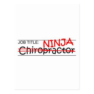 Stellenbezeichnung Ninja - Chiro Postkarte