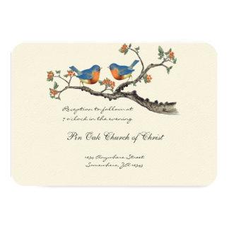 Stempelschneiden Sie die Vintagen Drosseln, die 8,9 X 12,7 Cm Einladungskarte
