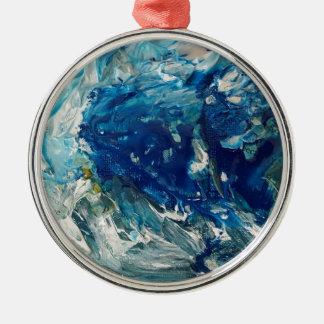 stephens Welle Rundes Silberfarbenes Ornament