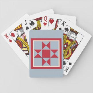 Steppdecken-Spielkarten - der Ohio-Stern Spielkarten