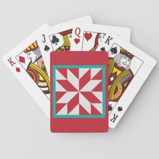 Steppdecken-Spielkarten - der Stern des Jägers Spielkarten