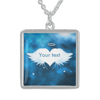 Sterlingsilber-Halskette - Engel des Herzens Sterling Silberkette