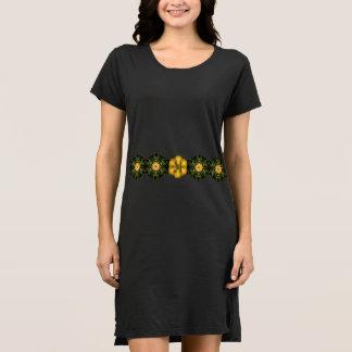 Stern-Blumen-Band mit kundenspezifischer Initiale Kleid