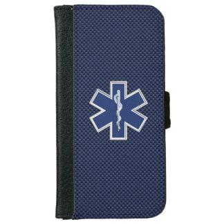 Stern der Leben-Sanitäter-Notärztlichen Bemühungen iPhone 6 Geldbeutel Hülle
