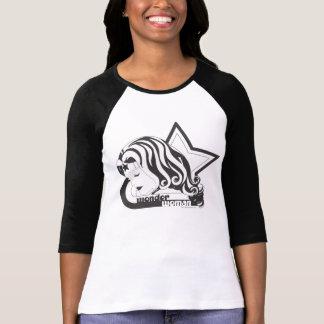 Stern der Wunder-Frauen-B&W T-Shirt