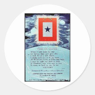 Stern des Ruhm-Sieges Sticker