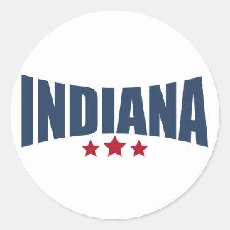 Stern-Entwurf Indianas drei Aufkleber