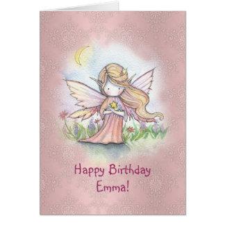 Stern-feenhafte Mädchen-Geburtstags-Karte Grußkarte
