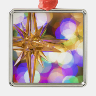 Stern-Glitzer Silbernes Ornament